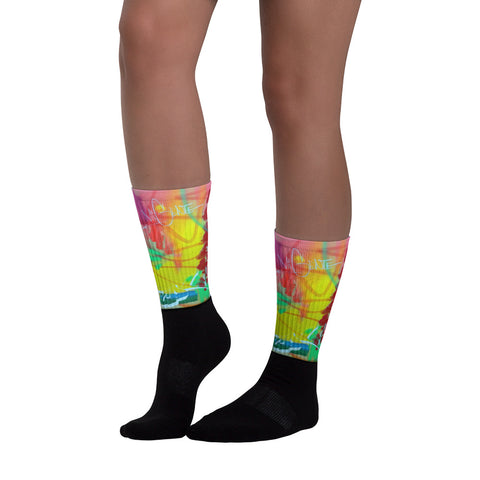"NEW! ""POC"": Black foot socks"
