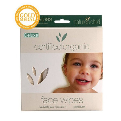 Nature's Child Deluxe Face Wipes - 4 Pack