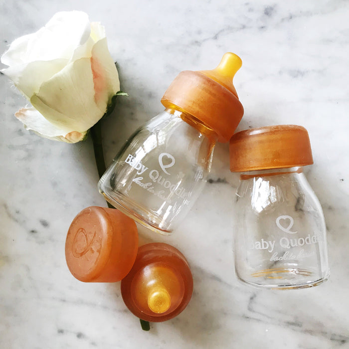 Baby Quoddle Glass Bottle Twin Pack 150ml