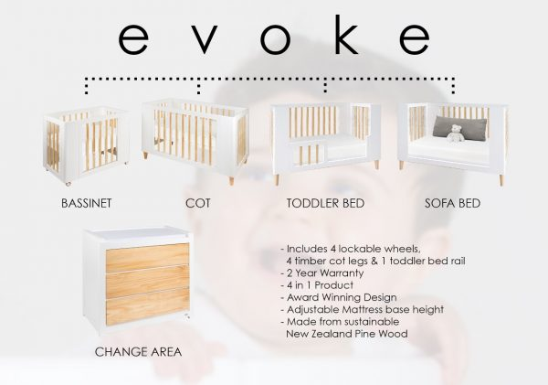 Cocoon Evoke 4 in 1 + Mattresses
