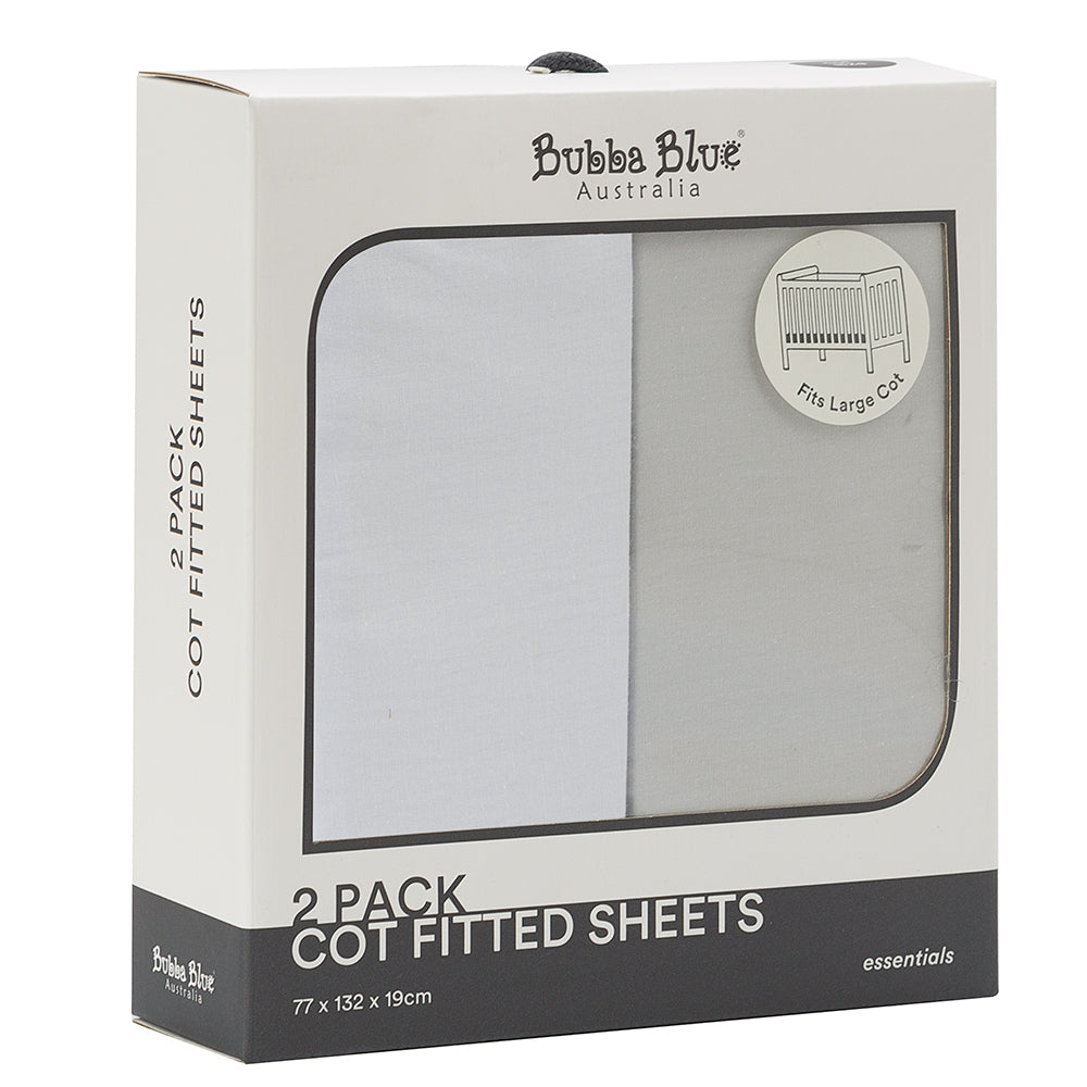Bubba Blue Cot Fitted Sheet - 2 Pack