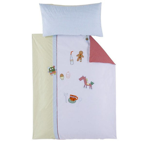 Mamas And Papas Gingerbread Cot Quilt And Pillowcase - Baby Zone Online