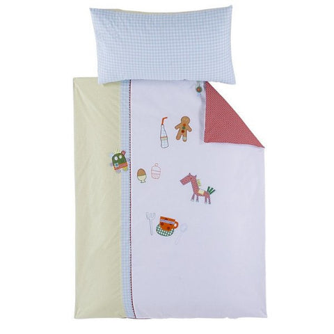 Mamas And Papas Gingerbread Cot Quilt And Pillowcase