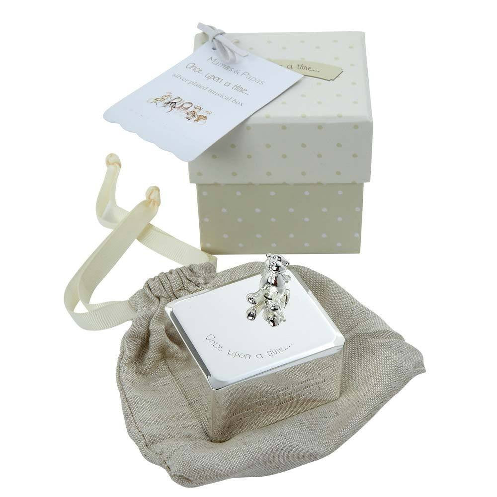 Mamas And Papas Once Upon A Time Silver Plated Music Box - Baby Zone Online