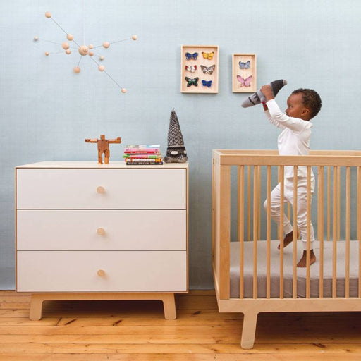 Oeuf Merlin 3 Drawer Dresser - Sparrow - Baby Zone Online - 1