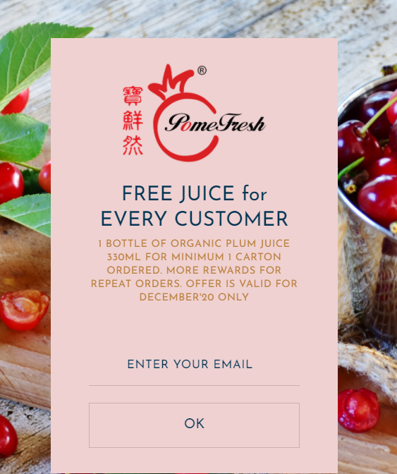 FREE Juice for Every New Customer