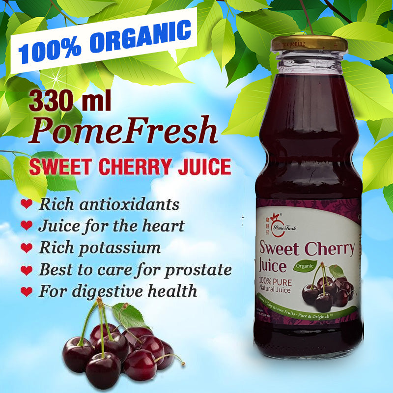 PomeFresh 100% Organic Sweet Cherry Juice 330ml