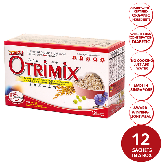 Otrimix Instant Oats Porridge 12 Meals (1 Box) - PomeFresh Organic Pte Ltd