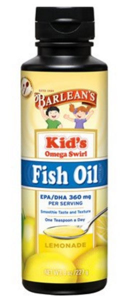 Kid's Fish Oil Omega Swirl Lemonade Flavor 8oz