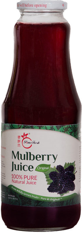 PomeFresh 100% Organic Mulberry Juice 1 Carton (1L X 8)
