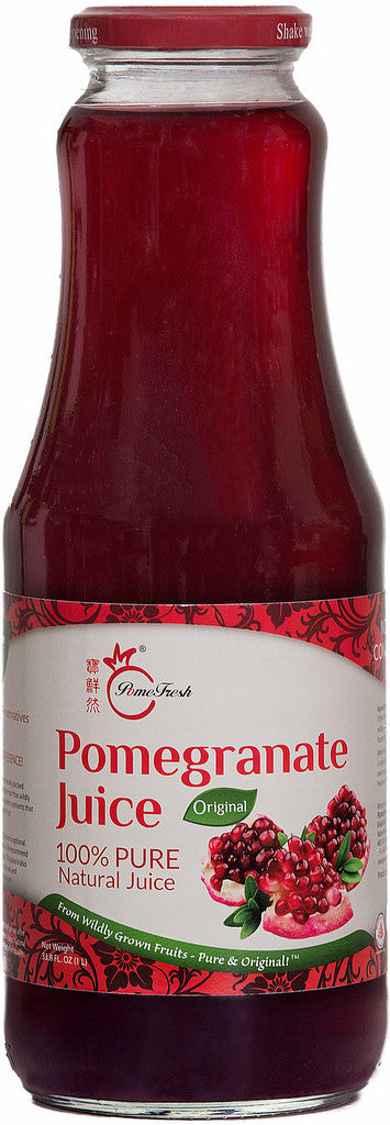 PomeFresh 100% Organic Pomegranate Juice 1 Carton (1L X 8)