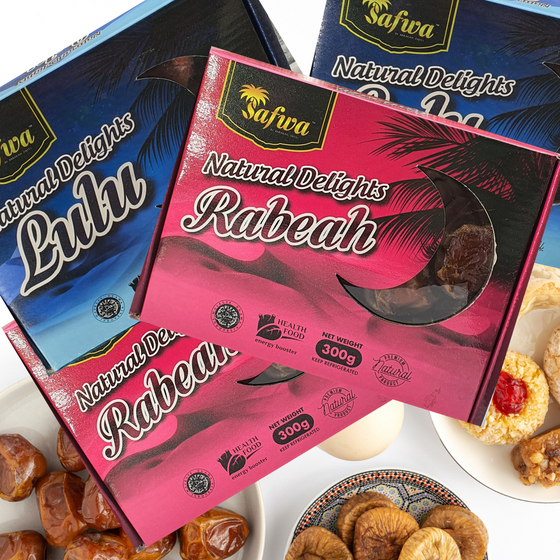 Safwa Lulu and Rabeah Dates 300g X 4 (4 Boxes Assorted)