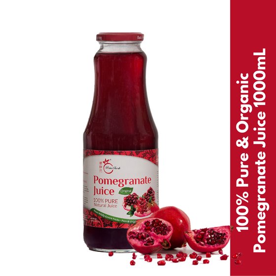 PomeFresh 100% Organic Pomegranate Juice 1L - PomeFresh Organic Pte Ltd