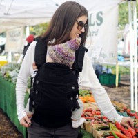 Moby Aria Baby Carrier in Black. It's a Sling Thing - the babywearing experts. The best baby slings, wraps and carriers available to buy online.