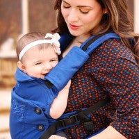 Moby Aria Baby Carrier in Blue. It's a Sling Thing - the babywearing experts. The best baby slings, wraps and carriers available to buy online.