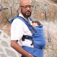 Moby Comfort Baby Carrier in Blue. It's a Sling Thing - the babywearing experts. The best baby slings, wraps and carriers available to buy online.