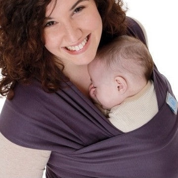 Moby Organic Stretchy Wrap in Eggplant. It's a Sling Thing - the babywearing experts. The best baby slings, wraps and carriers available to buy online.