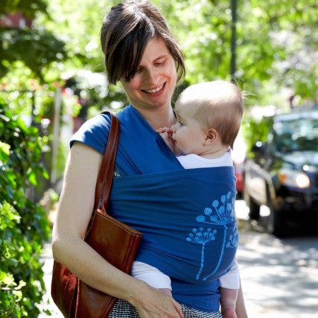 Moby Lotta Jansdotter Stretchy Wrap in Florine. It's a Sling Thing - the babywearing experts. The best baby slings, wraps and carriers available to buy online.