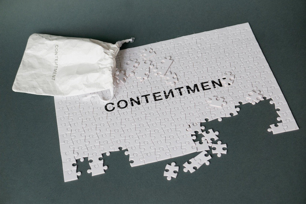 CONTENTMENT meditation puzzle