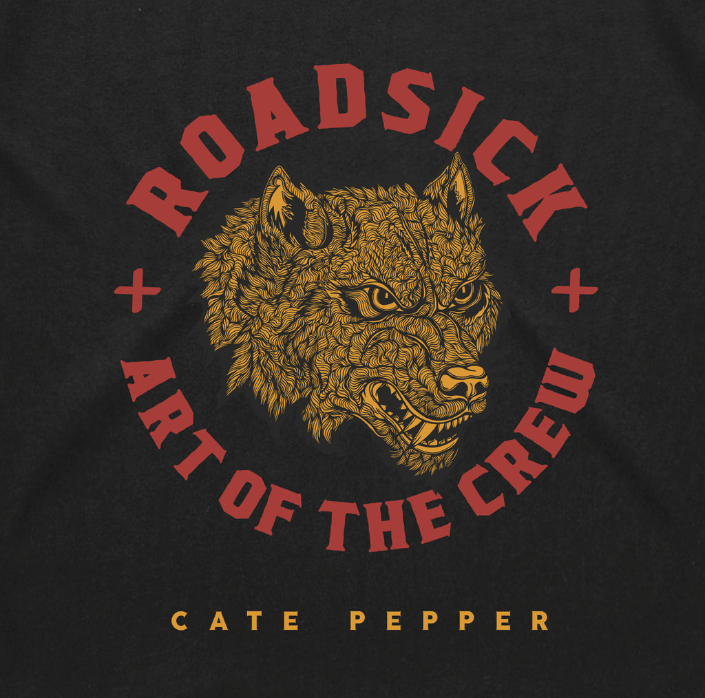 Art Of The Crew * Cate Pepper x Roadsick Apparel * Wolf Collab L/S Tee *