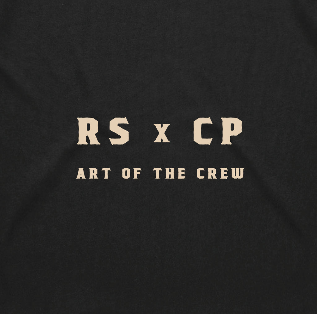 Art Of The Crew * Cate Pepper x Roadsick Apparel *Skull  Collab Tee * Black w/ Cream