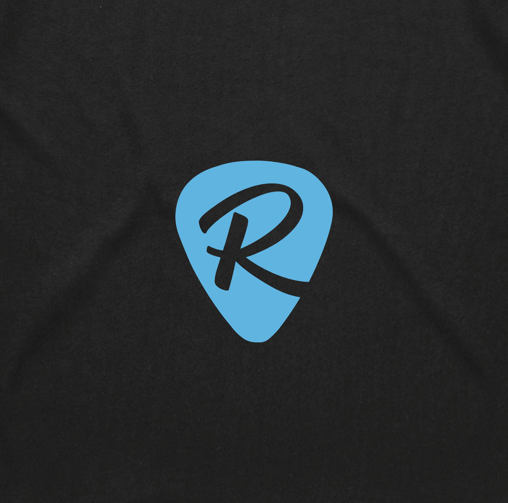 UPDATED 2020 LOGO TEE - BLACK W/ BLUE PRINT