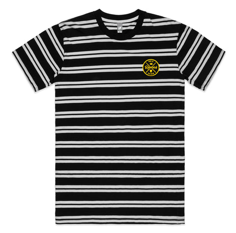 STRIPE TEE W/ BADGE