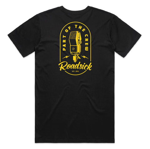 Microphone Logo Tee - Black w/ Yellow