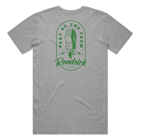 Microphone Logo Tee - Grey w/ Green