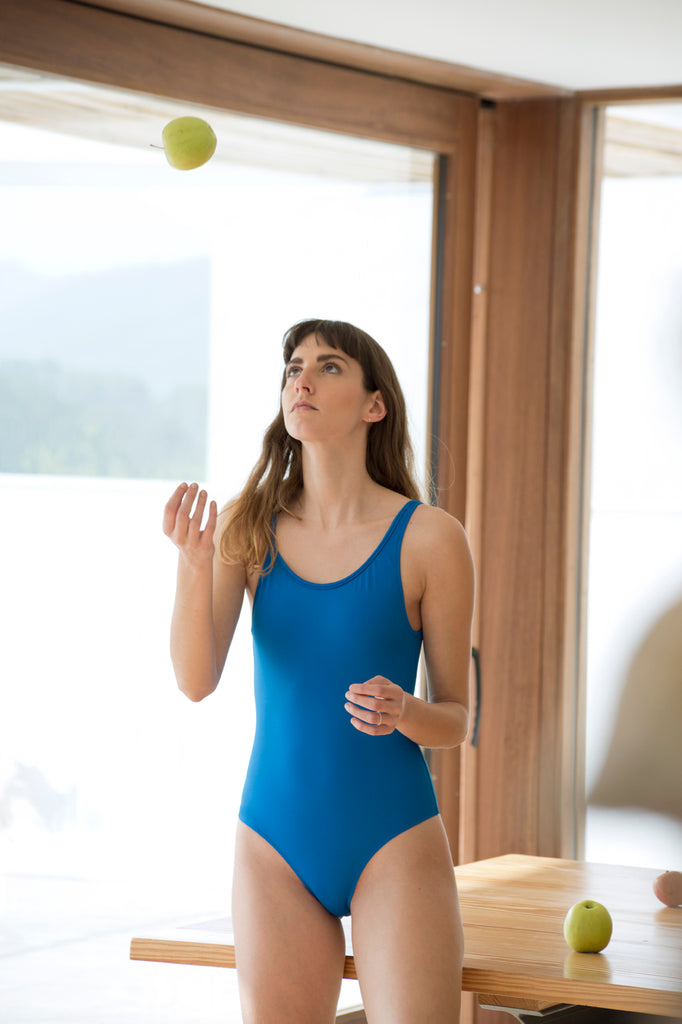 Blue swimsuit front