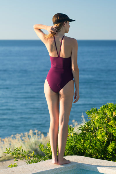 Antenna Swimsuit  | Bordeaux