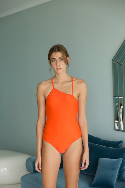Antenna Swimsuit  | Orange