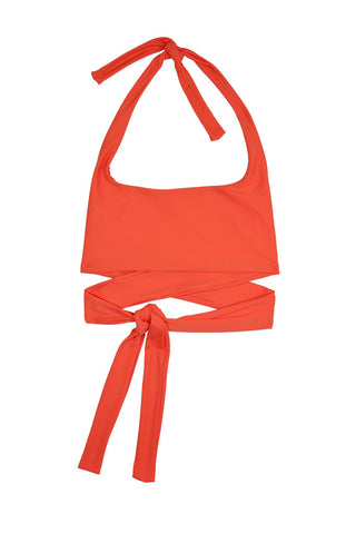 37 | Puzzle Bikini Top | Orange
