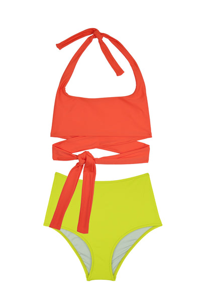 Puzzle Bikini Top | Orange