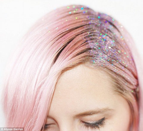 Glitter in the hair on DailyMail.com UK