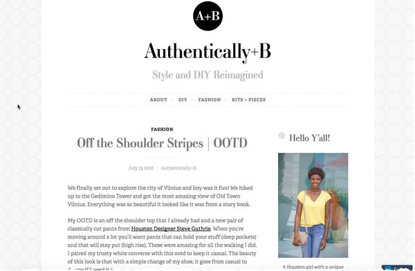 Authentically+B - Off the Shoulder Stripes | OOTD