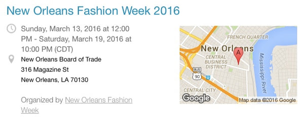 Fashion Week NOLA Information