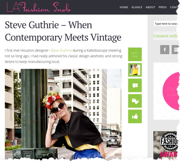 LAFASHIONSNOB.COM - Steve Guthrie – When Contemporary Meets Vintage