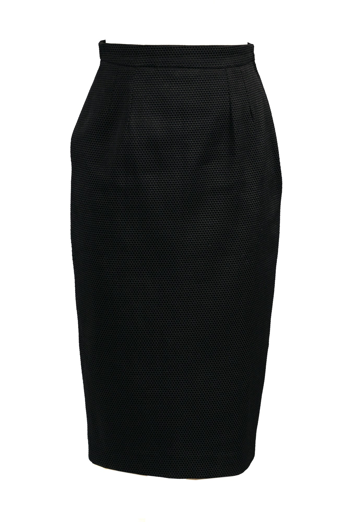 Textured High-waisted Pencil Skirt for All Seasons - Steve Guthrie - 5