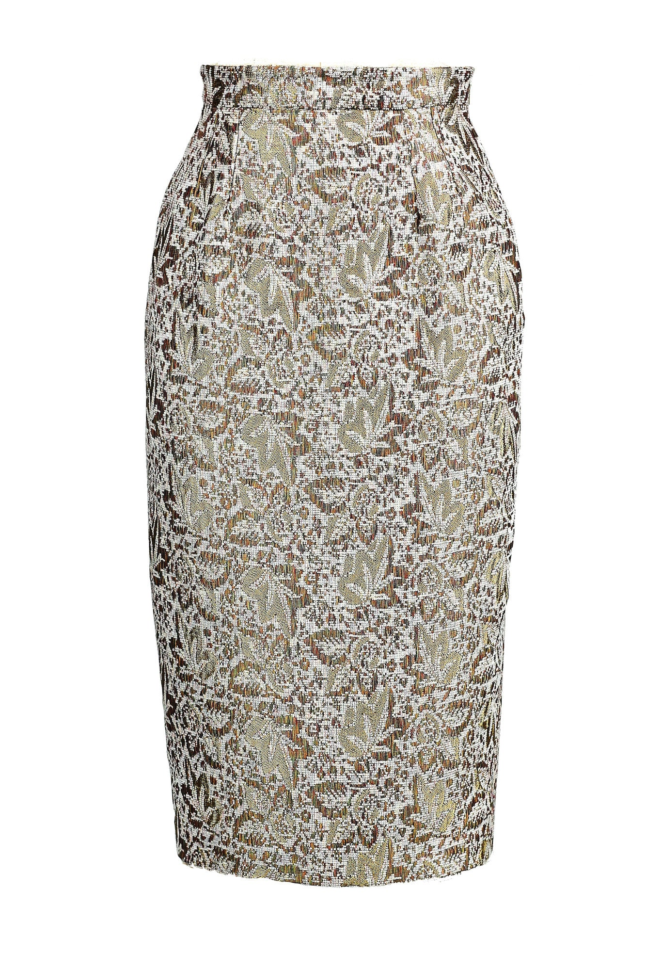 Textured High-waisted Pencil Skirt for All Seasons - Steve Guthrie - 3