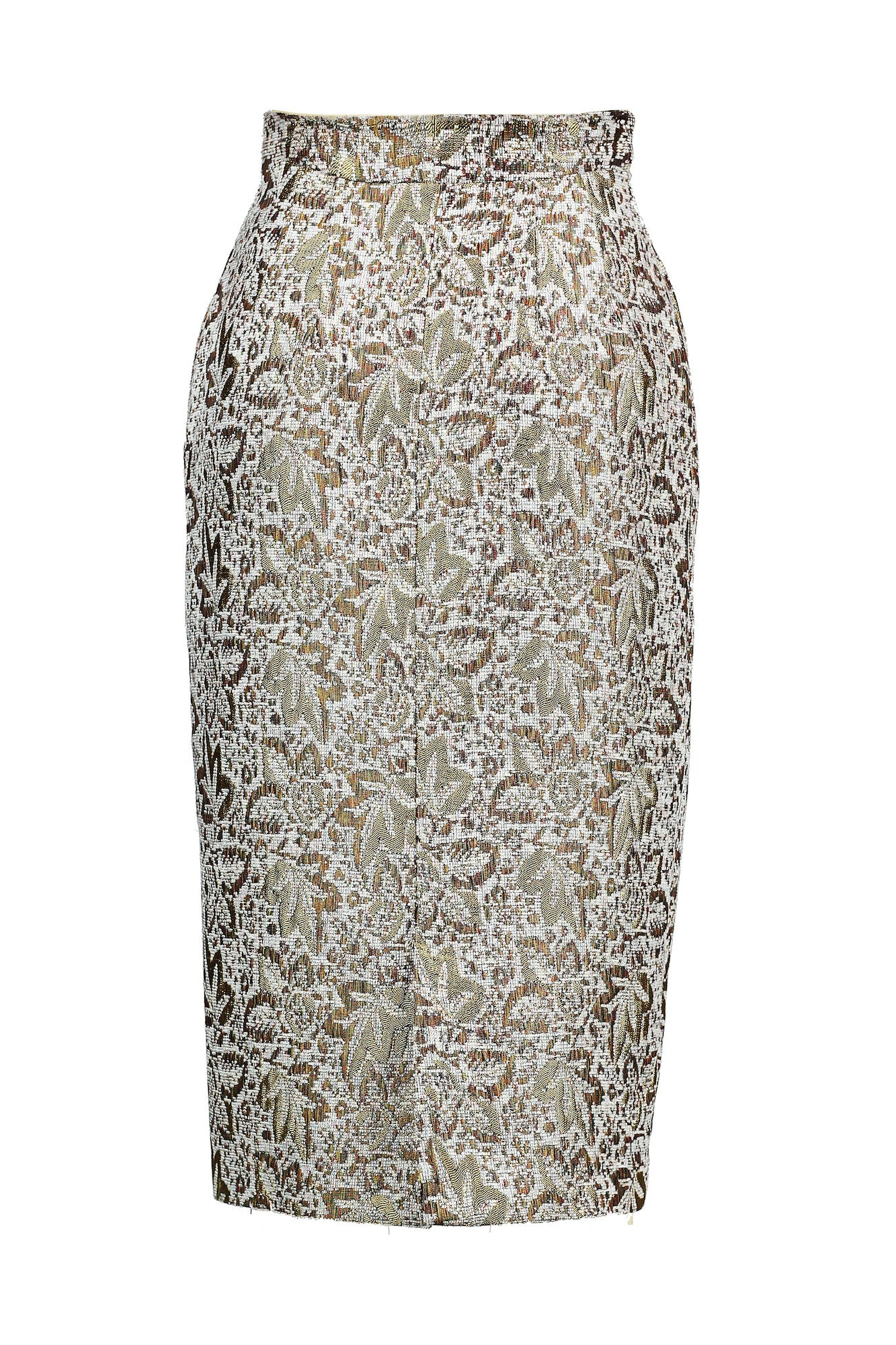 Textured High-waisted Pencil Skirt for All Seasons - Steve Guthrie - 4