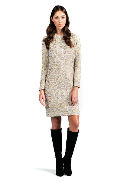 Versatile Long-Sleeve Shift Dress for All Seasons