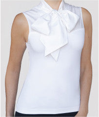 SkinnyShirt Pussy Bow Collared Sleeveless Shirt - Steve Guthrie - 5