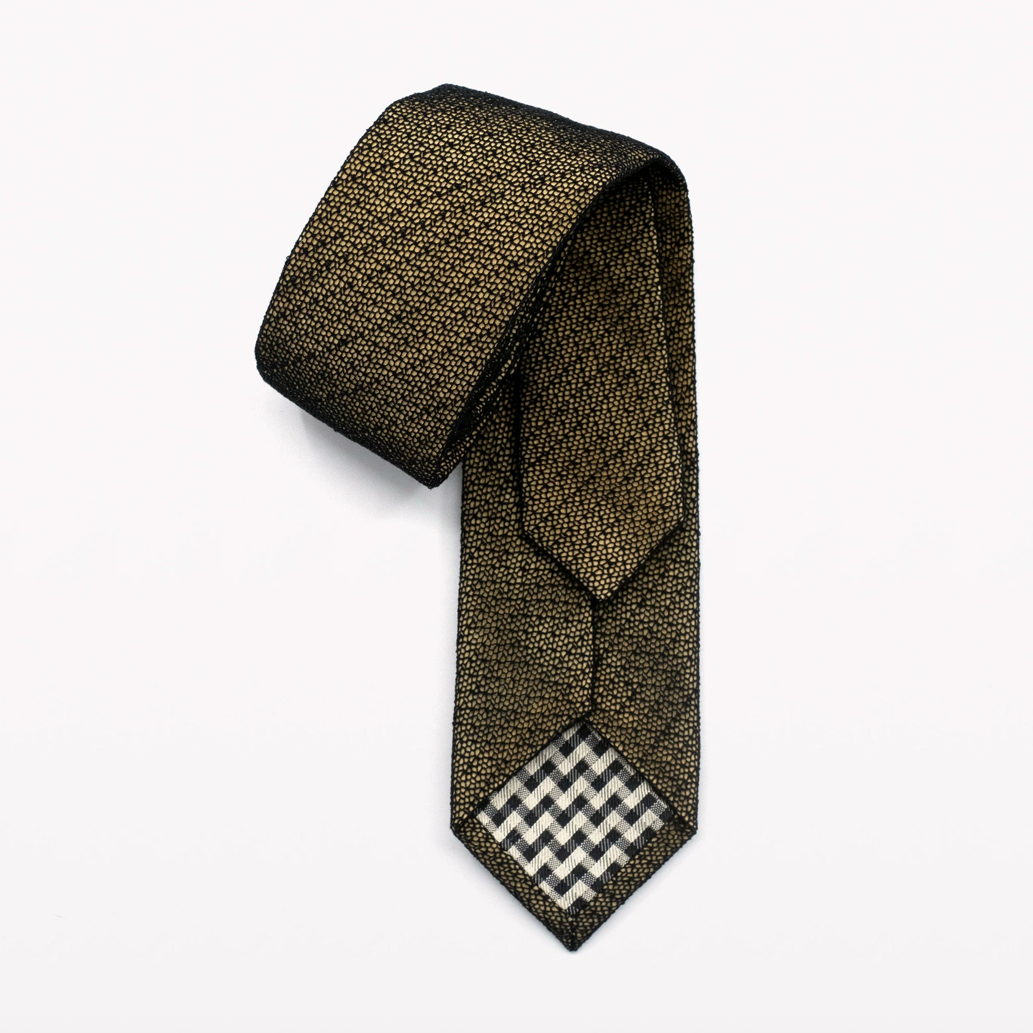 Black/Gold Fragile Lace Tie