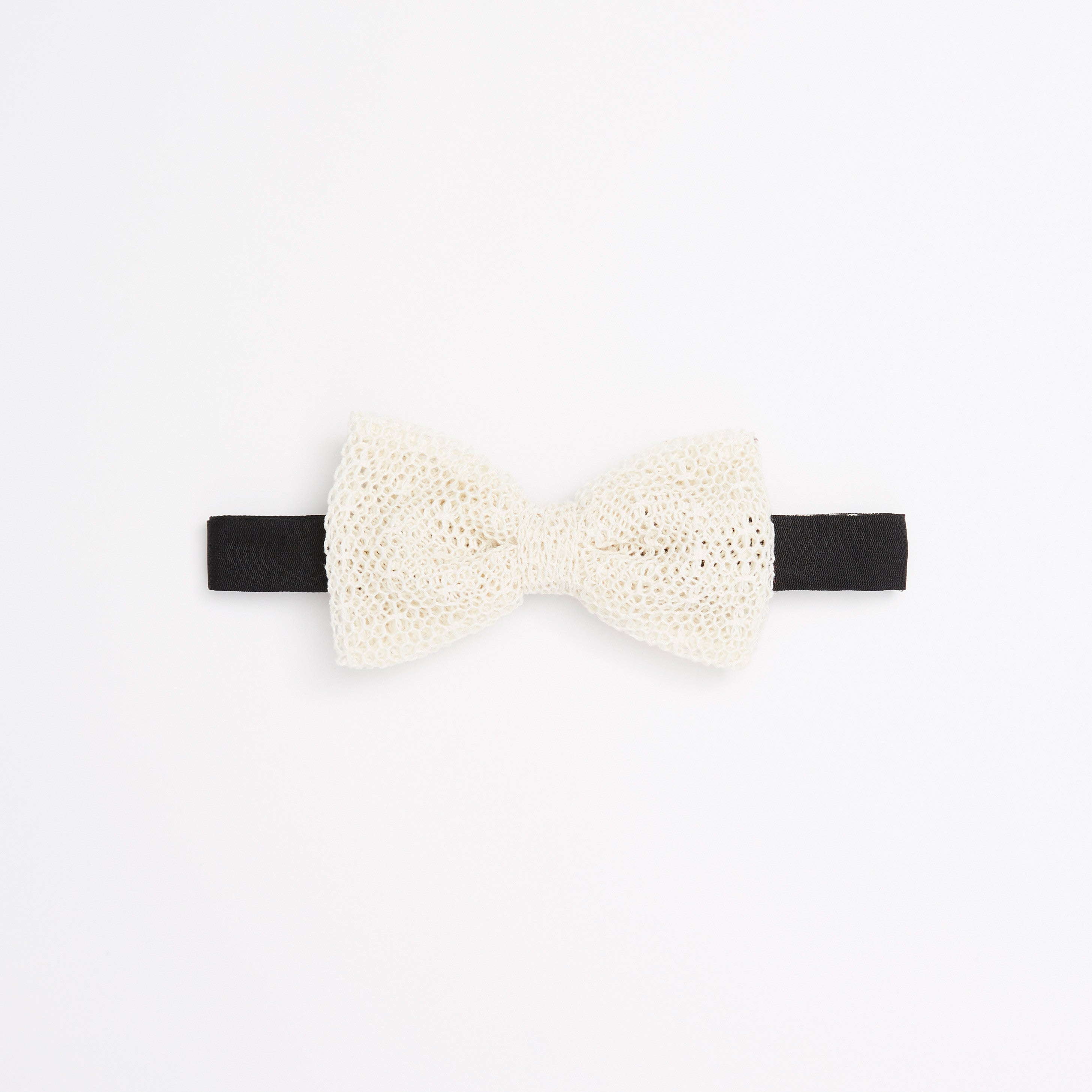 Mesh Lace Unlined Pre-Tied Bow Tie