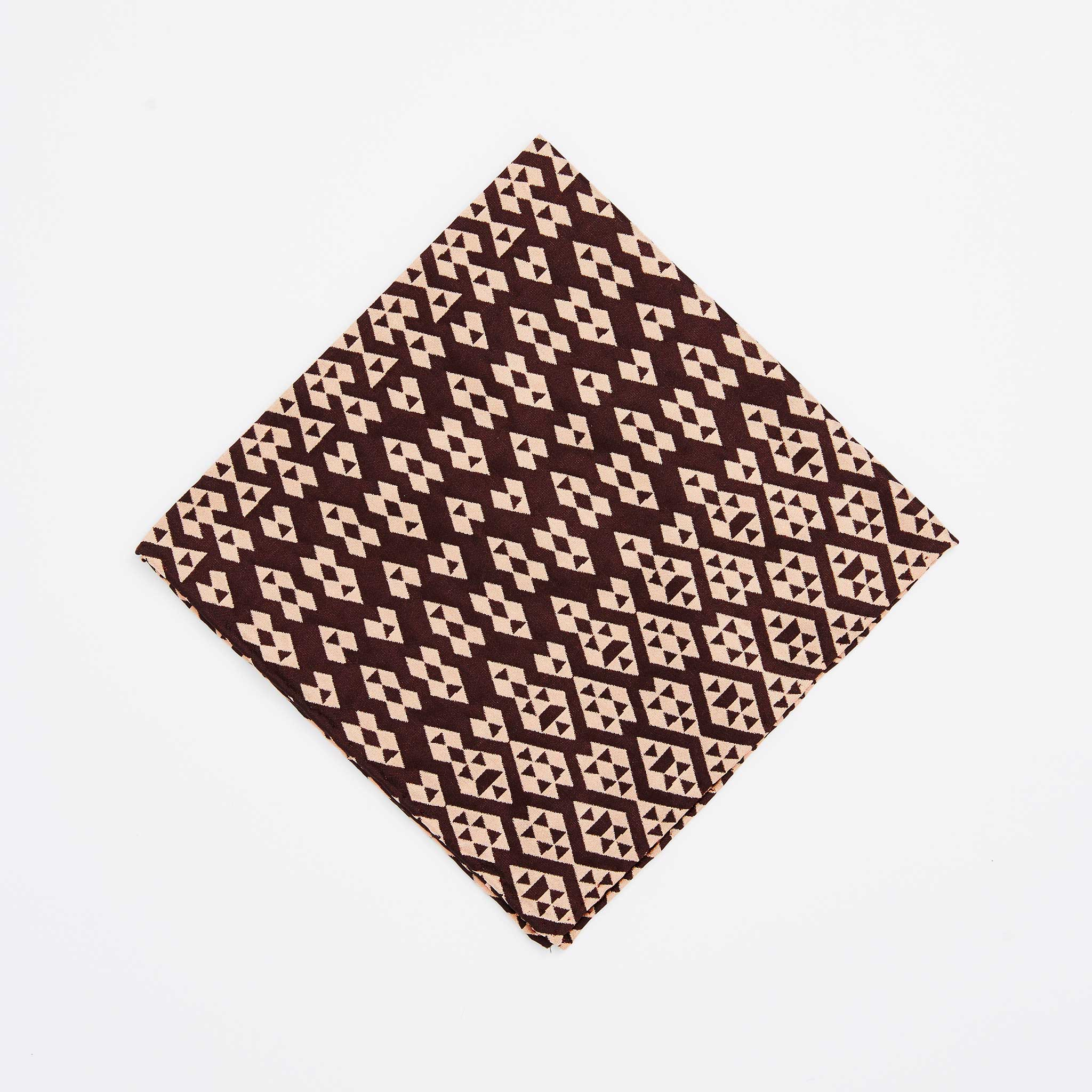 Harlequin  Silk Jacquard Pocket Square