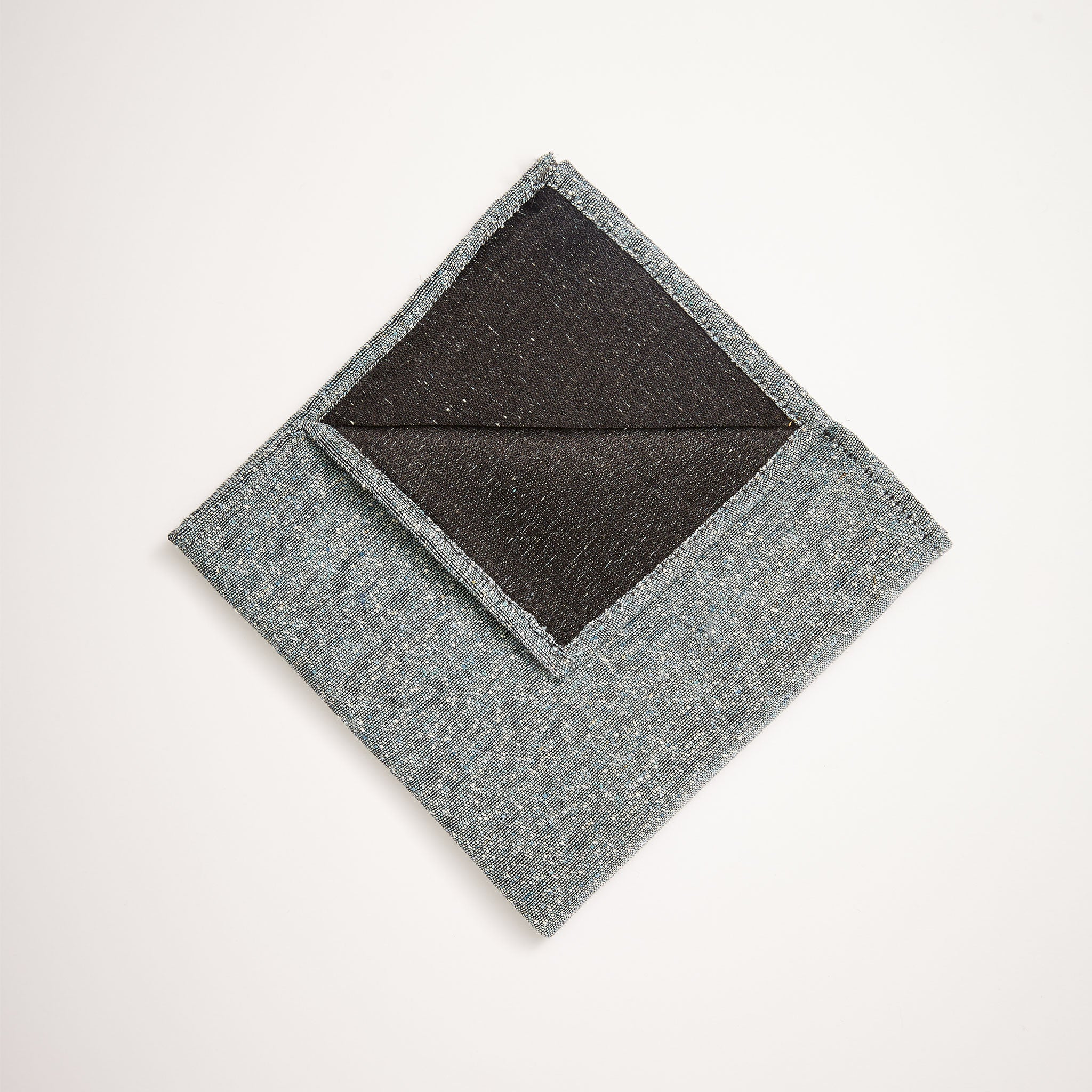 Slub Silk Woven Pocket Square