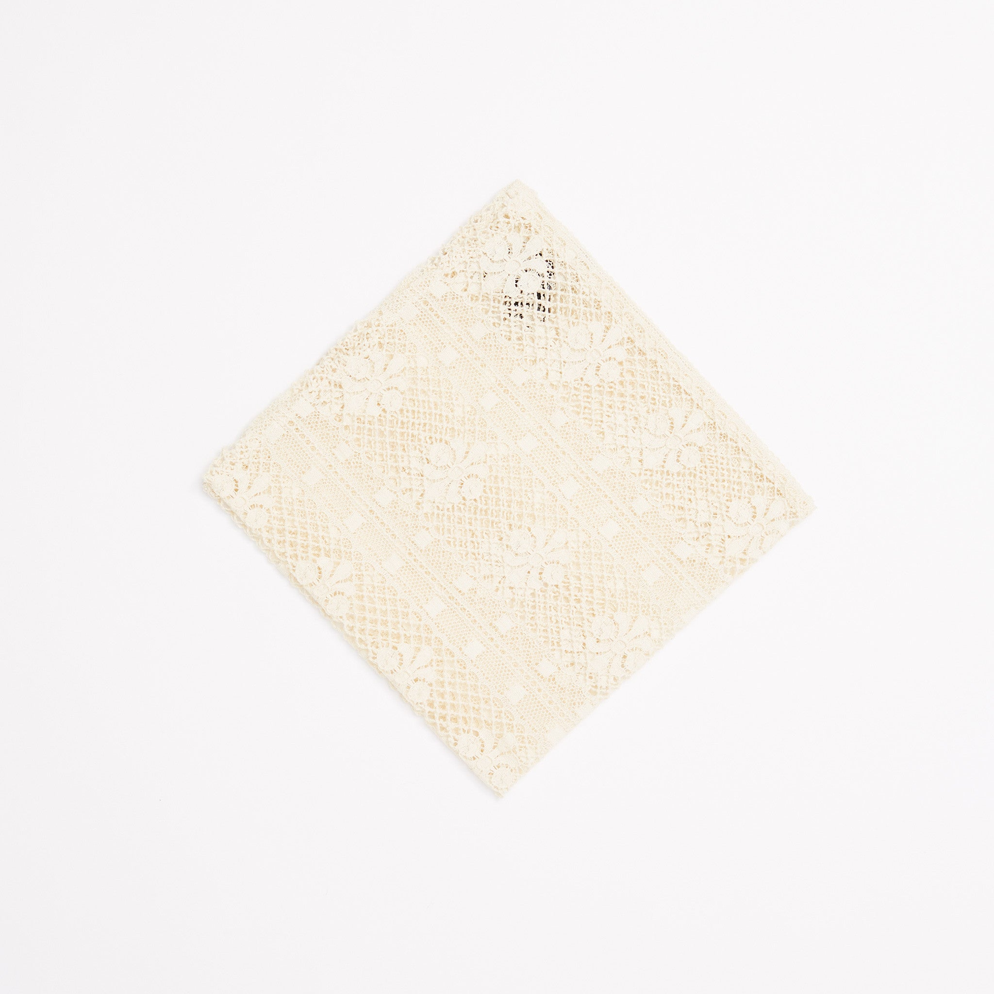 Crest Lace Pocket Square