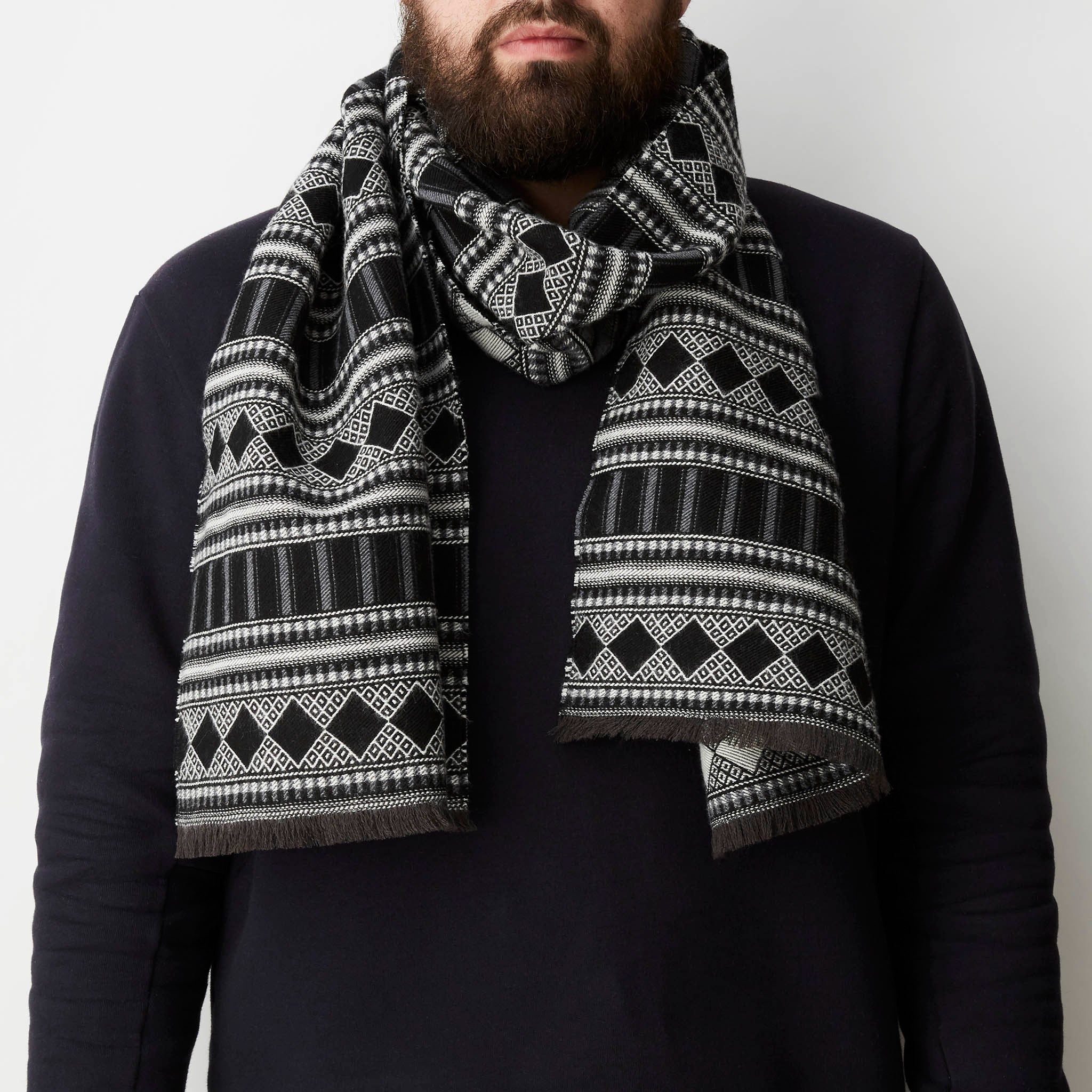 Folk Stripe Scarf