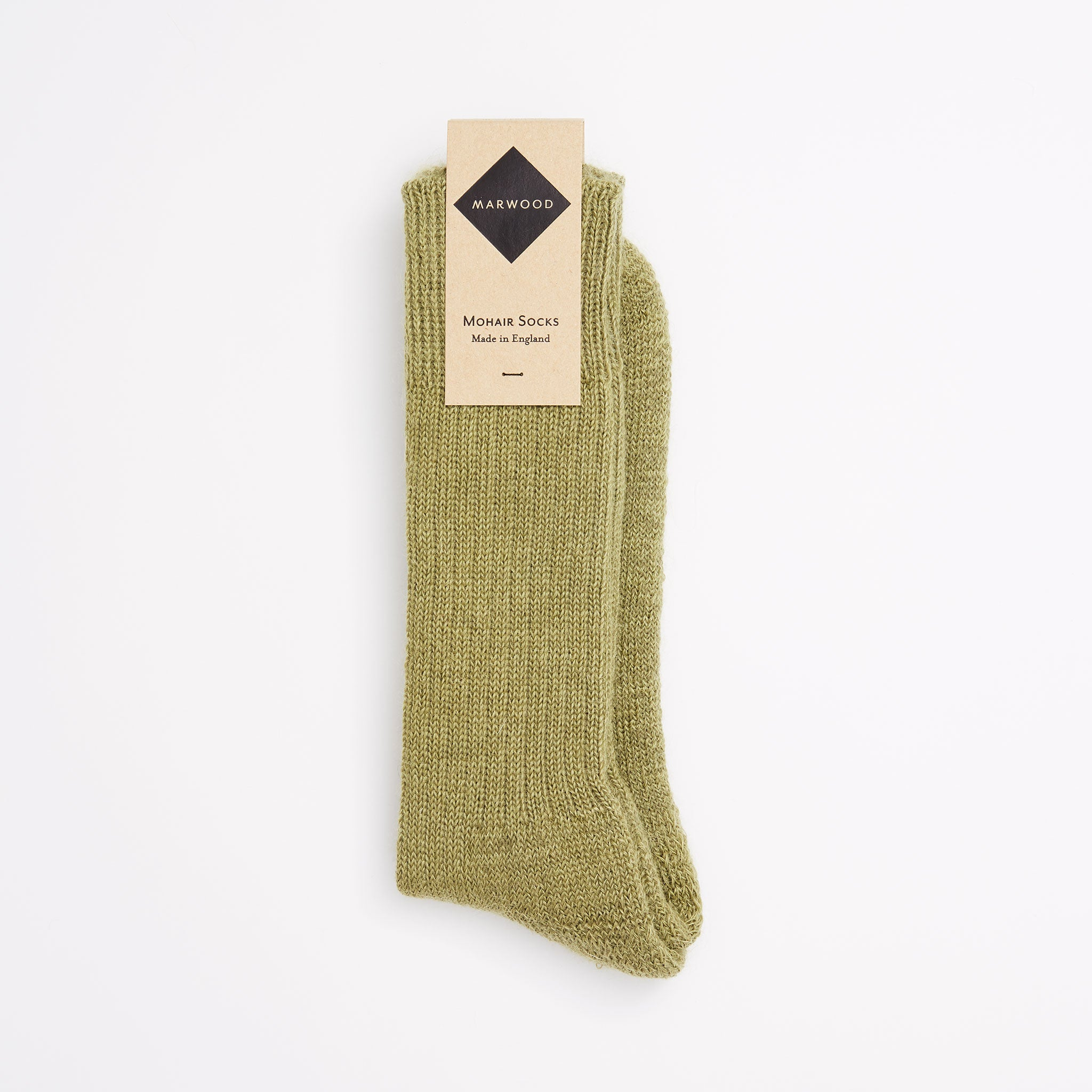 Sage Heavy Knit Mohair Socks